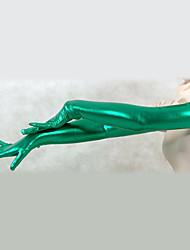 Shiny Metallic Verde Spalla Guanti Lunghezza (2 Pezzi)