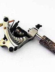 assemblé à la main en fonte machine à tatouer liner et shader avec poignée