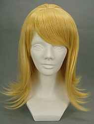 Cosplay Wigs Vocaloid Kagamine Rin Golden Medium Anime/ Video Games Cosplay Wigs 45 CM Heat Resistant Fiber Female
