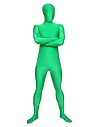 Zentai Suits Ninja Zentai Cosplay Costumes Green Solid Leotard/Onesie / Zentai Spandex Lycra Unisex Halloween / Christmas