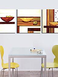 style moderne scénique toile horloge murale 3pcs k232
