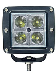 15W Square 4 LED Work Light