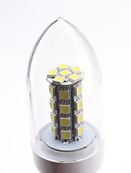 E27 6W 30x5050 SMD 450-500LM 5500-6500K Natural White Light LED Candle Bulb (85-265V)