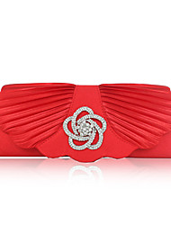 Shining Silk with Crystal Evening Handbag/Clutches
