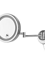 Ronde de 8,5 pouces LED mural chromé Miroir cosmétique