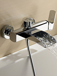 Von Lightinthebox Sprinkle®-Moderne-Wasserfall / Centerset / Wand-Messing-Sprinkle® Badwannenarmaturen(Chrom)