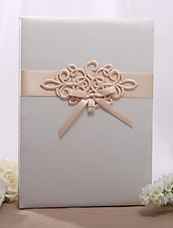 Beautiful Wedding Guestbook With Chinese Knot With Tri-Fold Blank Pages