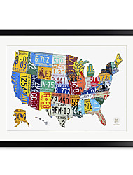 Printed Art Words & Quotes License Plate Map USA 1301-0242