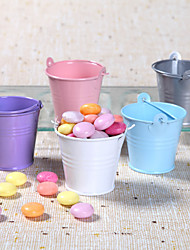 12 Piece/Set Favor Holder - Cylinder Metal Favor Tins and Pails Non-personalised