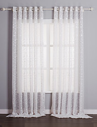 Two Panels Curtain Country , Solid Living Room Polyester Material Sheer Curtains Shades Home Decoration For Window