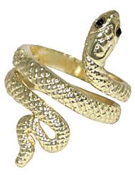 Serpente enrolada Anel Alloy (dourado)
