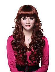 Capless Long Red Curly High Quality Synthetic Wigs