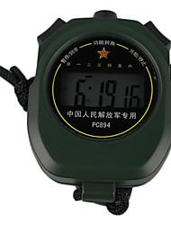 Dark Green Wearable Outdoor Stopwatch With Alarm Clock Function