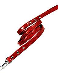 Рок-Pattern Rivet оформлен PU кожа безопасности Pet поводка проводки для собак (1,6 х 145см)