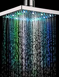 Chuveiro Contemporâneo com LED de 7 Cores (8 polegadas)