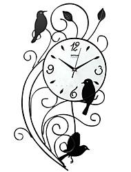 "25 ""h aves falar relógio de parede de metal"