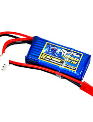 250mAh 7.4V/2S 20C Lipo battery for RC model