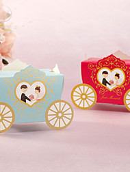 12 Piece/Set Favor Holder - Creative Card Paper Favor Boxes Cute Carriage Shaped