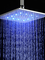 10 inch chroom messing douche kop met vage led licht (0698-l-4205)