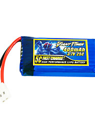400mAh 3.7V/1S 25C Lipo battery for RC model