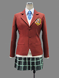 Inspirado por My Little Monster Shizuku Mizutani anime Cosplay Costumes Ternos de Cosplay / Uniformes Escolares Patchwork VermelhoManga