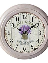 "12.75 ""horloge murale h lavande métallique"