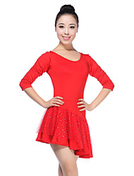 Latin Dance Dresses Women's Training Viscose Natural