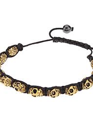 Будда золотой череп вязать bracelace