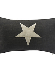 Country Star Cotton/Linen Decorative Pillow Cover