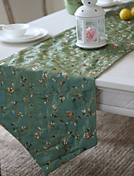 Classic Green Runners broderie florale de table