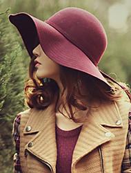 laine de mode tweed des femmes chapeau de disquette