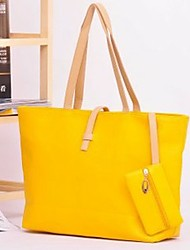 BLACK CAT Simplicity Candy Color Tote Bag with Zero Wallet(More Colors)