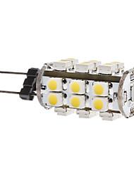 1.5W G4 Ampoules Maïs LED T 28 SMD 3528 140 lm Blanc Chaud DC 12 V