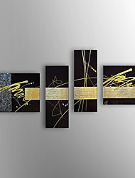 Hand-Painted Abstract Oil Painting,Canvas Four Panels