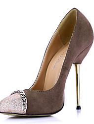 Stijlvolle Suede Naaldhak Pompen Met sprankelende glitter partij / avond schoenen
