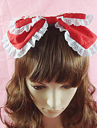 Handmade White Lace Cotton 25 centímetros Sweet Lolita Headband (4 cores)