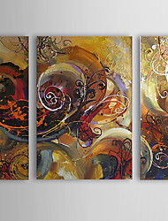 Hand-Painted Abstract Three Panels Canvas Oil Painting For Home Decoration