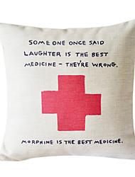 O Melhor Medicina algodão / linho fronha decorativa