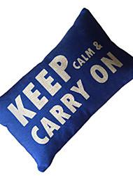 Keep Calm Cotton/Linen Decorative Pillow Cover