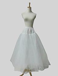 Nylon vestido vestido de baile cheio Tier 4 Andar de comprimento Deslizamento Estilo / casamento Petticoats