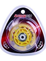 Резина и углеродистой стали Skate колеса Мерцающий демпфирования Anti-показывать желтые (1шт, диаметр = 70 мм)