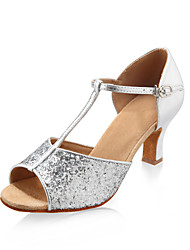 Sparkling Glitter Upper Dance Shoes Ballroom Latin Shoes for Women More Colors
