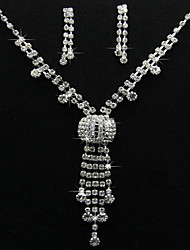 Jewelry Set Women's Anniversary / Birthday / Gift / Party / Special Occasion Jewelry Sets Alloy Rhinestone Earrings / Necklaces Silver