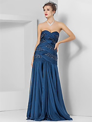 Mermaid / Trumpet Strapless Sweetheart Floor Length Chiffon Prom Dress with Beading by TS Couture®