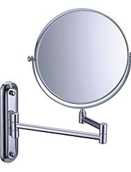 """Acabamento cromado de 180 graus de giro de montagem na parede de 360 graus de giro 8 """"Espelho de Prata Cosméticos"""
