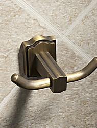 Chifre de boi-Style dupla End antigo gancho da veste de bronze