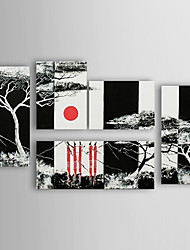 Hand-painted Oil Painting Landscape Set of 5 1302-LS0224