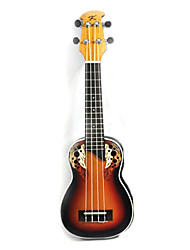 Kaka - (008) Plastic Back Soprano Ukulele with Gag(Sunset)