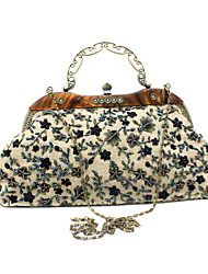 Charming Canvas with Flowers Evening Handbag/Clutches(More Colors)