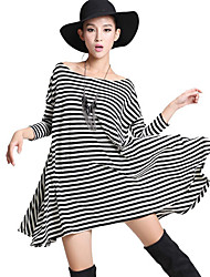 KISS Stripes Loose Swing Dress (incl. Belt)